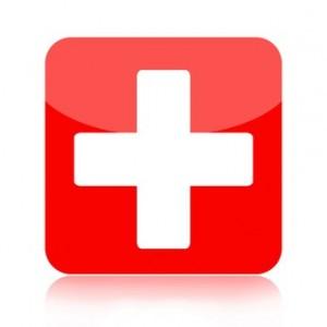 Croix rouge symbole des urgences vétérinaires